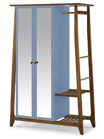 Roupeiro Multiuso Stoka com 2 Portas na Cor Azul Serenata