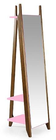 Espelho Stoka - Rosa Cristal