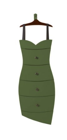 Cômoda Dress na Cor Verde Oliva
