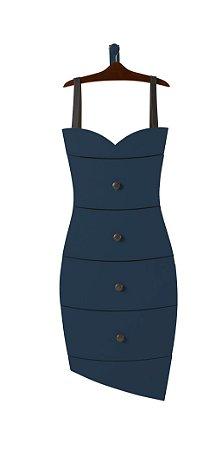 Cômoda Dress na Cor Azul Marinho