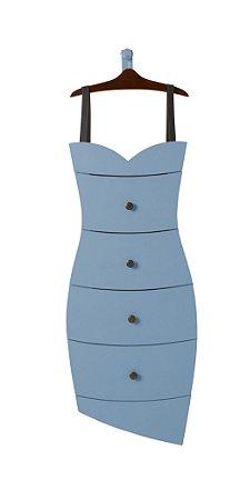 Cômoda Dress na Cor Azul Serenata