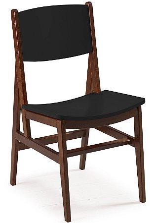 Cadeira Dumont com Acento e Encosto na Cor Preta