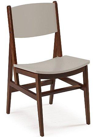 Cadeira Dumont com Acento e Encosto na Cor Nude
