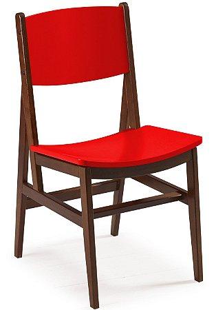 Cadeira Dumont com Acento e Encosto na Cor Vermelha