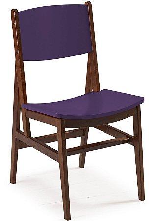 Cadeira Dumont com Acento e Encosto na Cor Roxa