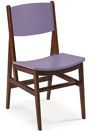 Cadeira Dumont com Acento e Encosto na Cor Lilás