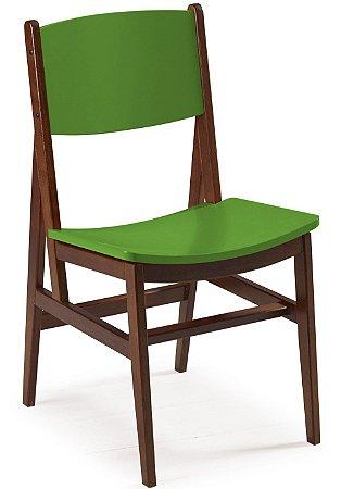 Cadeira Dumont com Acento e Encosto na Cor Verde Limão