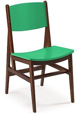 Cadeira Dumont com Acento e Encosto na Cor Verde