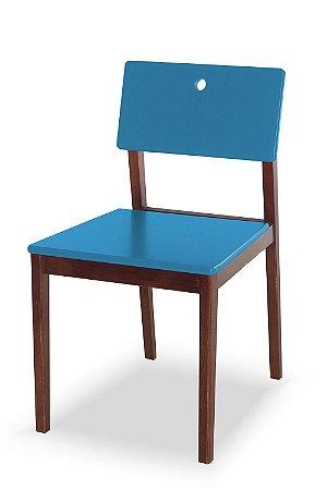 Cadeira Flip com Acento e Encosto na Cor Azul Turqueza