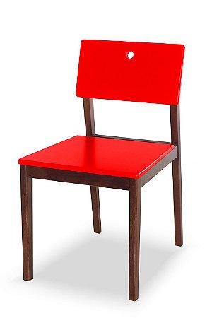 Cadeira Flip com Acento e Encosto na Cor Vermelha
