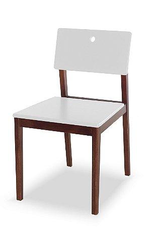 Cadeira Flip com Acento e Encosto na Cor Branca