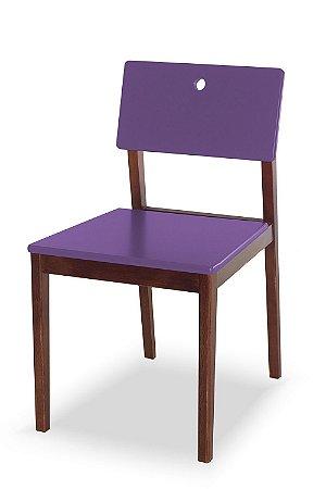 Cadeira Flip com Acento e Encosto na Cor Roxa