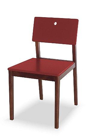 Cadeira Flip com Acento e Encosto na Cor Vinho