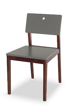 Cadeira Flip com Acento e Encosto na Cor Cinza