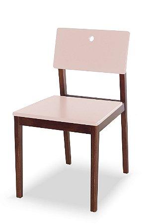 Cadeira Flip com Acento e Encosto na Cor Rosa