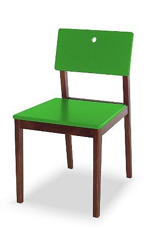 Cadeira Flip com Acento e Encosto na Cor Verde Limão