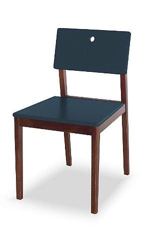 Cadeira Flip com Acento e Encosto na Cor Azul Marinho