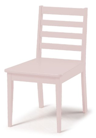Cadeira Imperial com Encosto Ripado e Acento na Cor Rosa