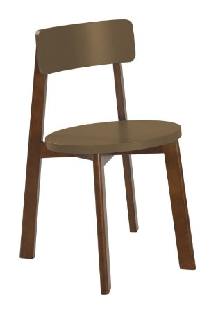 Cadeira Lina com Acento e Encosto na Cor Marrom Claro
