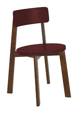 Cadeira Lina com Acento e Encosto na Cor Vinho