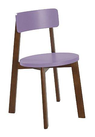 Cadeira Lina com Acento e Encosto na Cor Lilás