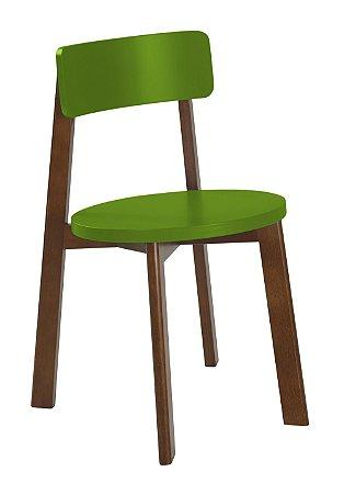 Cadeira Lina com Acento e Encosto na Cor Verde Limão