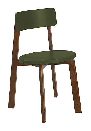 Cadeira Lina com Acento e Encosto na Cor Verde Oliva