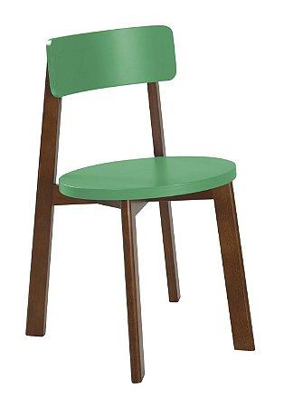 Cadeira Lina com Acento e Encosto na Cor Verde