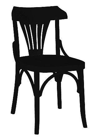 Cadeira Opzione em Madeira Maciça na Cor Preta