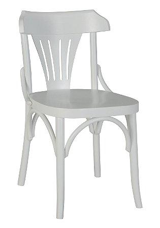 Cadeira Opzione em Madeira Maciça na Cor Branca