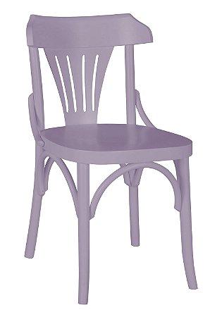 Cadeira Opzione em Madeira Maciça na Cor Lilás