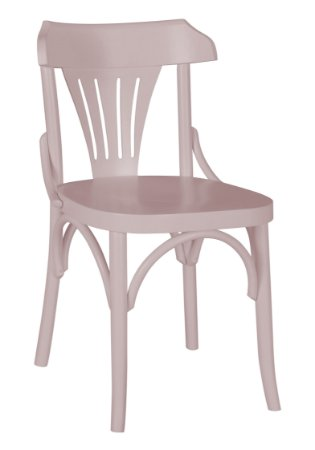 Cadeira Opzione em Madeira Maciça na Cor Rosa