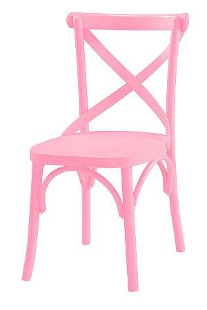 Cadeira X - Rosa Cristal