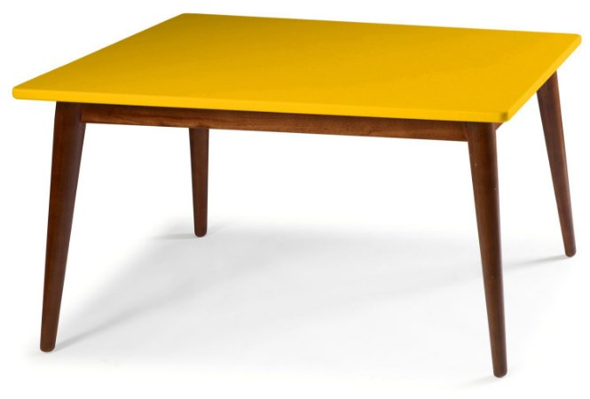 Mesa de Jantar Novita na Cor Amarela em vários tamanhos confira: