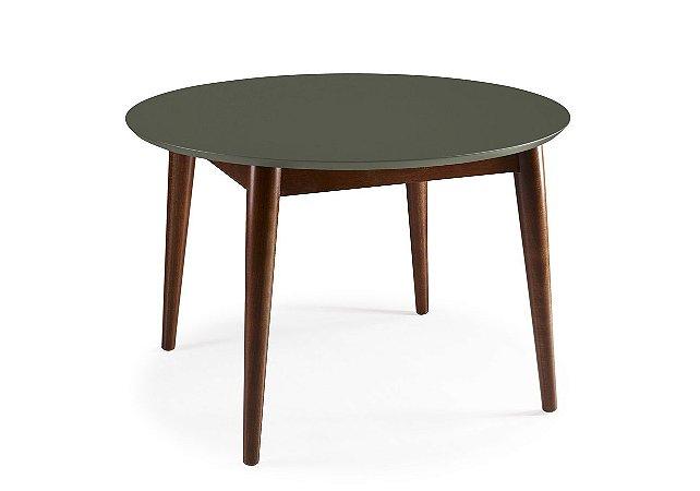 Mesa de Jantar Devon com 120cm, Pés de madeira Maciça e Tampo em MDF na Cor Cinza