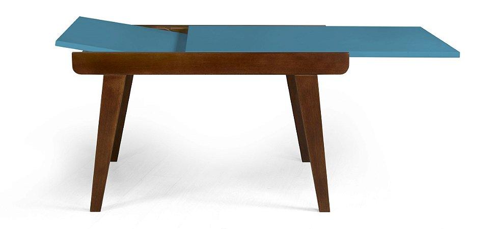 Mesa de Jantar Extensível Maxi na Cor Azul Turqueza