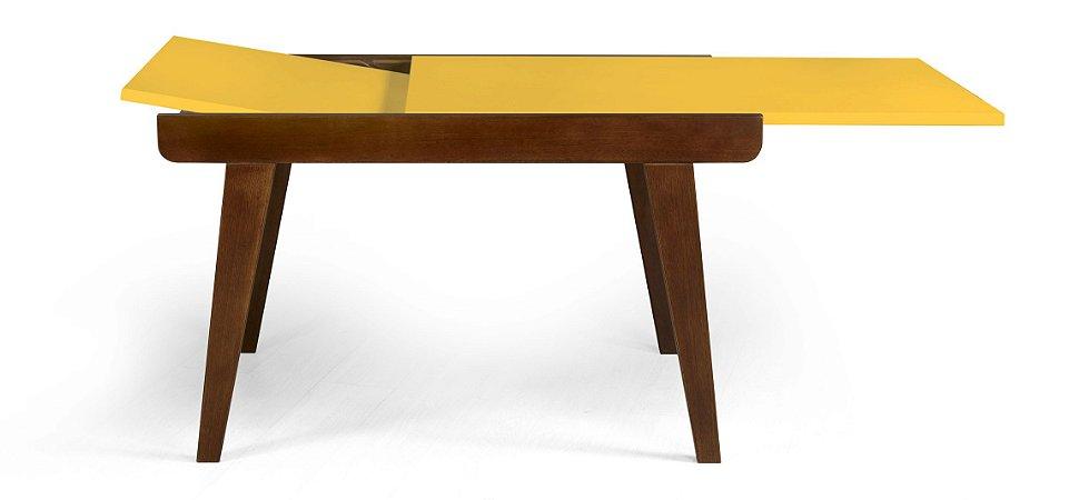 Mesa de Jantar Extensível Maxi na Cor Amarela