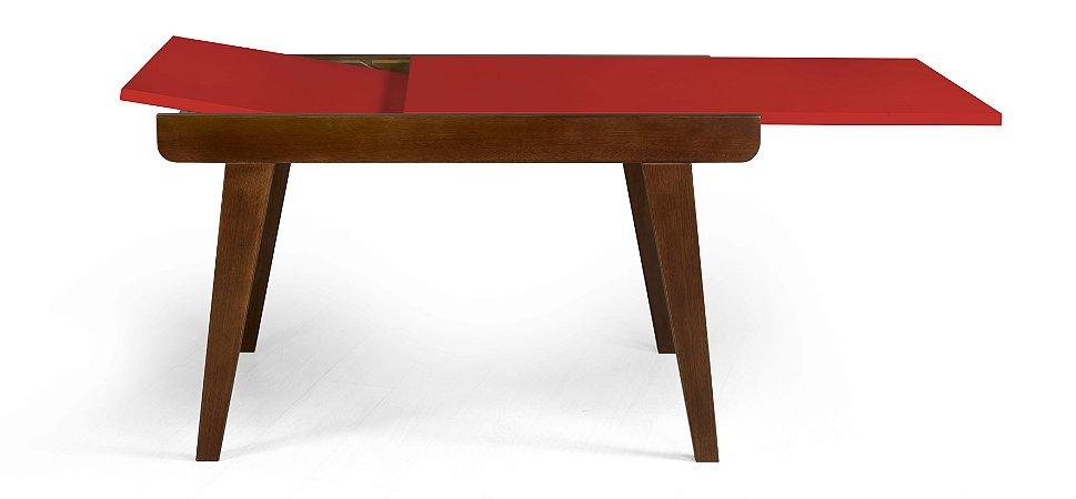 Mesa de Jantar Extensível Maxi na Cor Vermelha