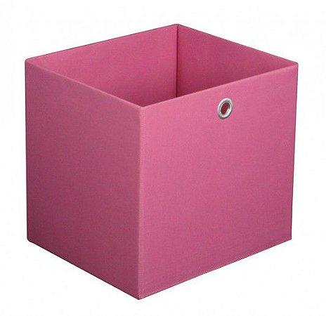 Caixa Organizadora Tamanho Grande na Cor Rosa