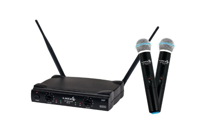 Microfone Sem Fio Mão Duplo UH02MM Lyco