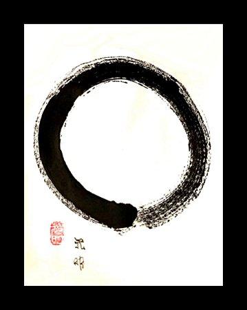 Estudos em arte Zen e Sumi-ê - Monge Kōmyō - Enso