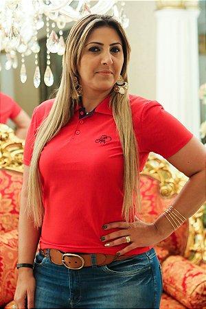 Polo feminina vermelha