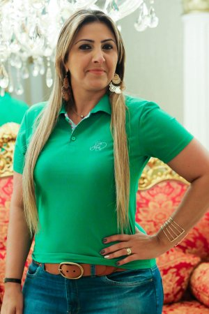 Polo feminina verde