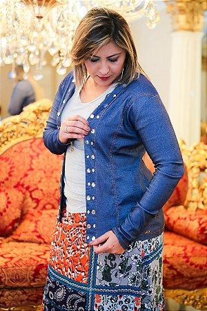 Jaqueta de pedras jeans