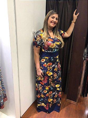 Vestido De Faixa Lia Azul