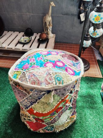 Puf indiano Boho chic - 45cm/alt.