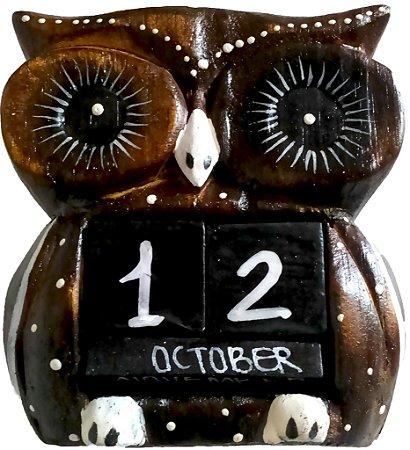 Coruja Calendario