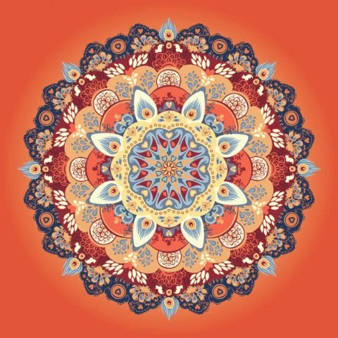 Tecido Adesivo Mandala - Pacote / Rolo