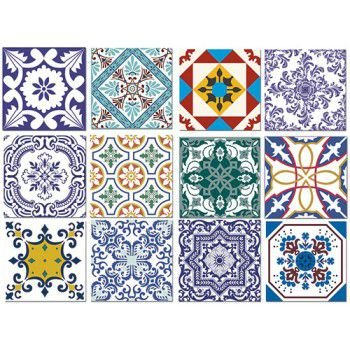 Tecido Adesivo Azulejo Português - Pacote / Rolo