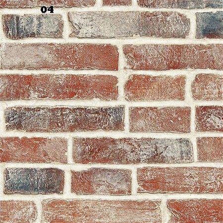 Papel de parede adesivo 3d Tijolos  /  3m x 58cm
